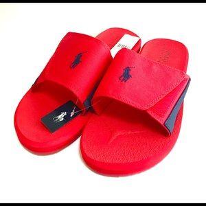 Polo Ralph Lauren Men's Slide Sandals Red/Navy